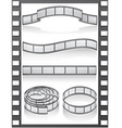 set filmstripe icons vector image