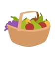 Vegetable harvest basket vector image