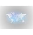 world map gray blue vector image