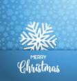 christmas snowflake background 2709 vector image vector image