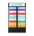 Vertical Refrigerator Template vector image
