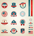Vintage label and ribbons award collections vector image vector image