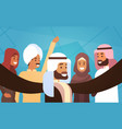 muslim people crown man and woman traditional vector image