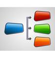 Glossy style marketing diagram presentation vector image