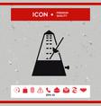 metronome icon vector image