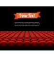 red cinema theatre seats vector image
