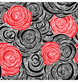 Roses black and red wallpaper vector image