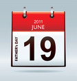 calendar icon fathers day vector image