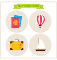 Flat Voyage Website Icons Set vector image vector image
