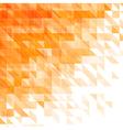 triangular geometric orange background vector image