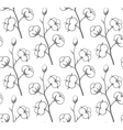 Seamless pattern Cotton vector image