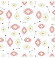 seamless ikat tribal pattern vector image