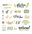 Badges and labels for homemade natural products vector image