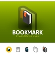 Bookmark icon in different style vector image