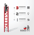 Business Infographic climbing ladder concept vector image