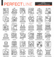 legal law and justice outline mini concept vector image