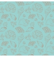 Vintage seamless pattern of seashells vector image