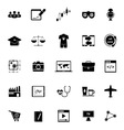Online working icons on white background vector image