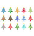 simple color xmas tree icon vector image vector image