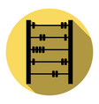retro abacus sign  flat black icon with vector image