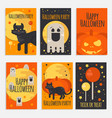 halloween party banners cards and posters vector image