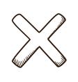 Cross No symbol vector image vector image