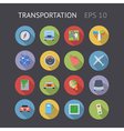 Flat icons for transportation vector image