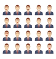 Large set of male emotions vector image