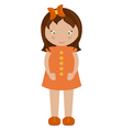 little girl vector image