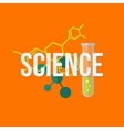Science concept Typegoraphy with flat icons vector image