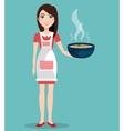 Healthy and delicious food vector image