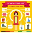 Cleaning infographic flat style vector image