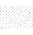 Pastel Colorful Dots White Background vector image