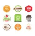 Halal cuisine label vector image