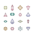 Crystal icons Design vector image
