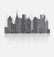 Night city scape concept vector image