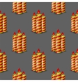 Red Yellow Wax Candles Seamless Pattern vector image