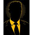 Retro Comic Business Man Silhouette vector image