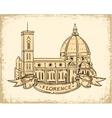 Santa Maria del Fiore Florence vector image