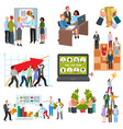 teamwork business people group on conference vector image