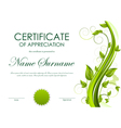 Certificate of appreciation template vector image vector image