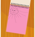notebook with the sun vector image vector image