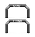 Inflatable start finish line arch place vector image