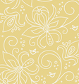 floral seamless pattern with birds vector image vector image