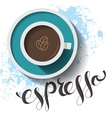 Espresso cup card vector image