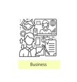 Modern thin line icons for business and management vector image
