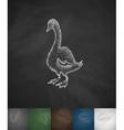 goose icon Hand drawn vector image