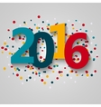 Happy 2016 new year vector image