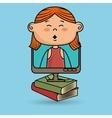 kids screen book icon vector image