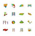 park playground icons set cartoon vector image